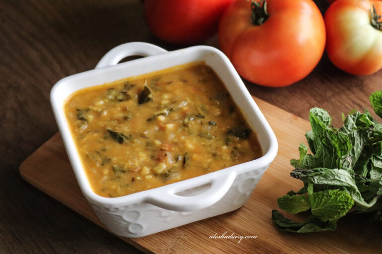 Methi dal – Vendhaya keerai paruppu curry